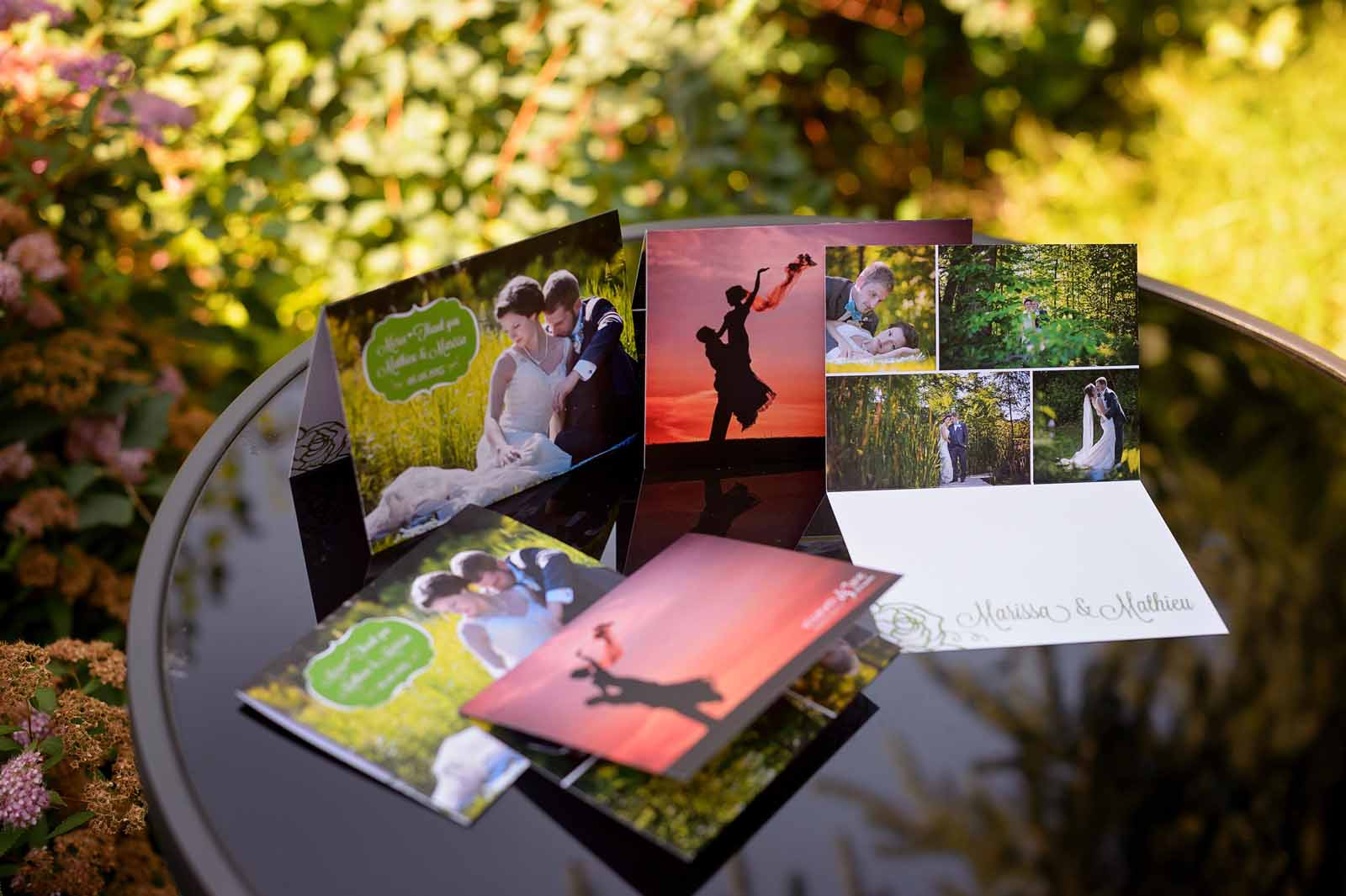 Wedding thank you cards designed specifically for the couple